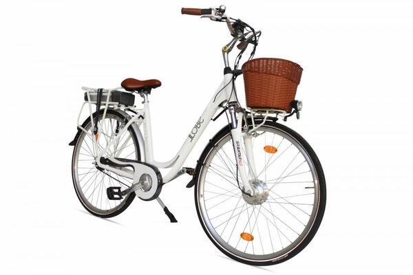 """LLobe E-Bike 28"""" Alu City White Motion 8 G"""