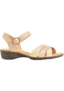 Bequeme Sandale aus Leder