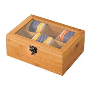 Kesper Tee-Box mit 6 Fächern aus Bambus
