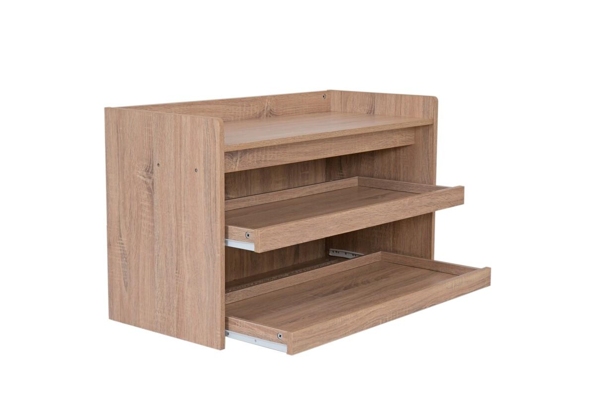 Bild 4 von Happy Home Schuhbank Holz mit grauem Sitzkissen