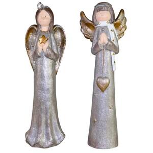 Dekofigur Engel aus Magnesium-Oxid in zwei Ausführungen
