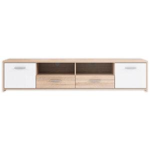 TV-Lowboard - Sonoma Eiche-weiß - 181 cm breit
