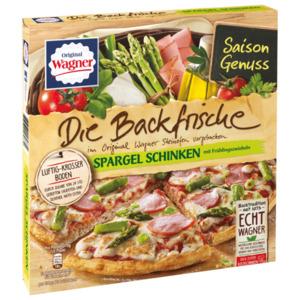 Original Wagner Die Backfrische Spargel Schinken Pizza mit Frühlingszwiebeln 350g