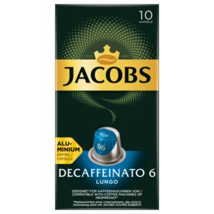 Jacobs Kaffeekapseln Decaffeinato 6 Lungo, 10 Nespresso kompatible Kapseln