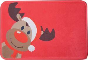 Dekor Badvorleger mit weihnachtlichen Motiven, ca. 40 x 60 cm - Elch