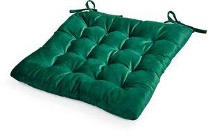 Dekor Sitzkissen in Samtoptik, ca. 40 x 40 x 4 cm, 2er Pack - dunkelgrün