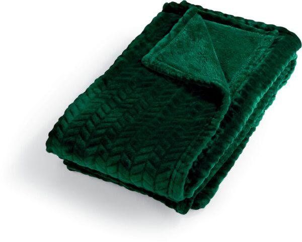Dekor Wohndecke Flanell, ca. 130 x 170 cm - grün