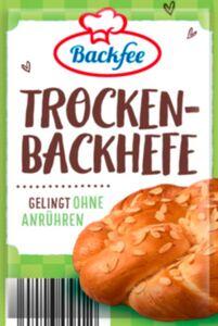 Backfee Trockenbackhefe für 6 x 500g Mehl