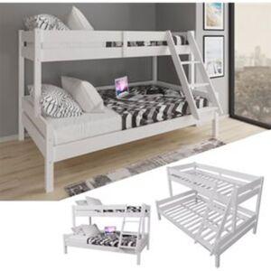 VitaliSpa Kinderbett Everest Etagenbett Weiß Hochbett Stock Bett 90x200 und 140x200