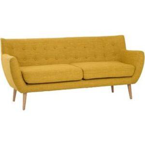 Sofa MOON 3-Sitzer in currygelb Couch Dreisitzer Stoffsofa