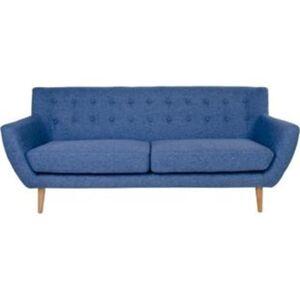 Sofa MOON 3 Personen in blau Couch Sitzmöbel Polstermöbel