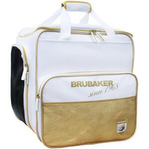 Brubaker Super St. Moritz Skischuhtasche Helmtasche Rucksack mit Schuhfach Weiß Gold