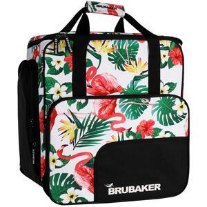 Brubaker Super Flamingo Skischuhtasche Helmtasche Rucksack mit Schuhfach