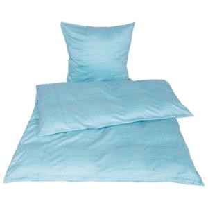 Bettwäsche Satin 135 x 200cm blau