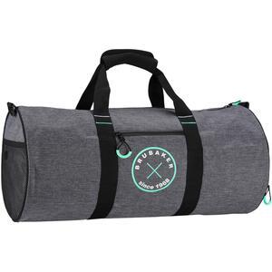 Brubaker Duffel Bag Sporttasche 27 L 54 cm x 25 cm Ø Anthrazit Grau Melange/Mint