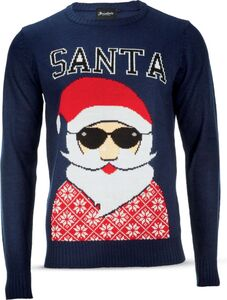 Herren Christmas Sweater - navy, Gr. M