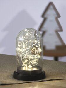 Glaskuppel mit Lichterkette