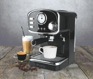 Barista Espresso Maschine Retro 1100W schwarz