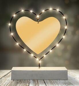 Dekor LED Figuren mit Betonständer - Herz