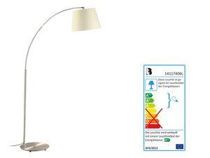 LIVARNO LUX® LED Stehleuchte, 190 cm hoch, Lampenschirm aus Textil, Leuchtmittel inklusive