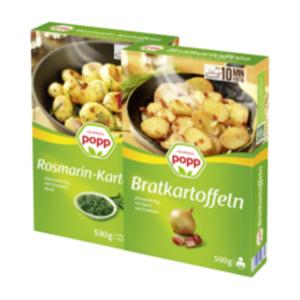 Popp Bratkartoffeln, Kartoffelgratin, Baked Potatoes, Mini Kartoffelknödel