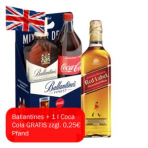 Johnnie Walker Red Label oder Ballantines Scotch Whisky