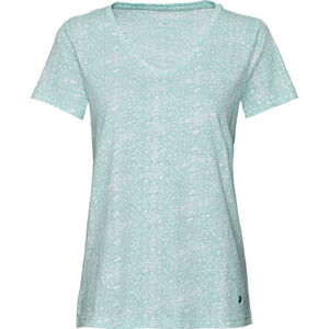 Tom Tailor Damen Rundhals T-Shirt, Allover-Print