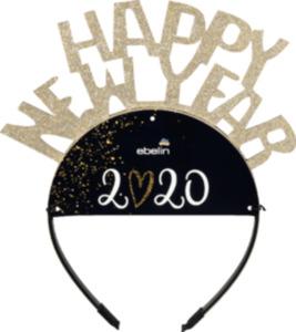 "ebelin ebelin Haareif mit ""Happy New Year"" Schriftzug gold"