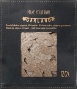 Dekorieren & Einrichten Papiergirlande Do it yourself mit Buchstaben & Zahlen, roségold glitzernd