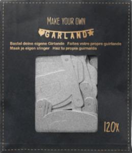 Dekorieren & Einrichten Papiergirlande Do it yourself mit Buchstaben & Zahlen, silber glitzernd