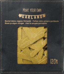 Dekorieren & Einrichten Papiergirlande Do it yourself mit Buchstaben & Zahlen, gold glitzernd
