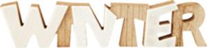 Dekorieren & Einrichten Holzschriftzug Winter mit Keramik
