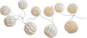 Dekorieren & Einrichten Lichterkette 10er LED Batterie mit Timer Papierball, weiß
