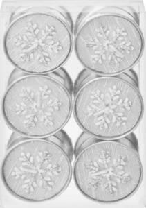 Dekorieren & Einrichten Teelichte mit Schneeflockenapplikation, silber