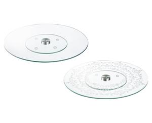 CROFTON®  Drehbare Servierplatte aus Glas