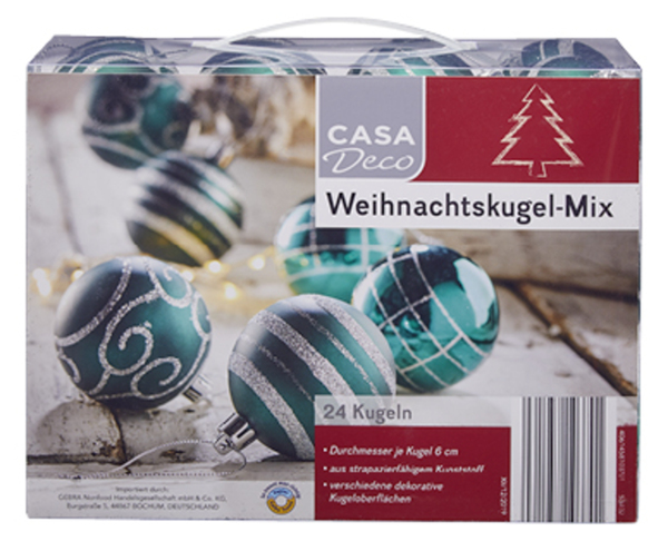 CASA Deco Weihnachtskugel-Mix