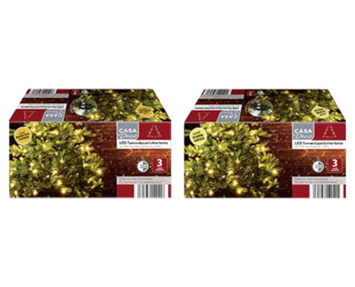 Bild 1 von CASA Deco LED-Tannenbaum- oder Mikro-LED-Tannenbaumlichterkette