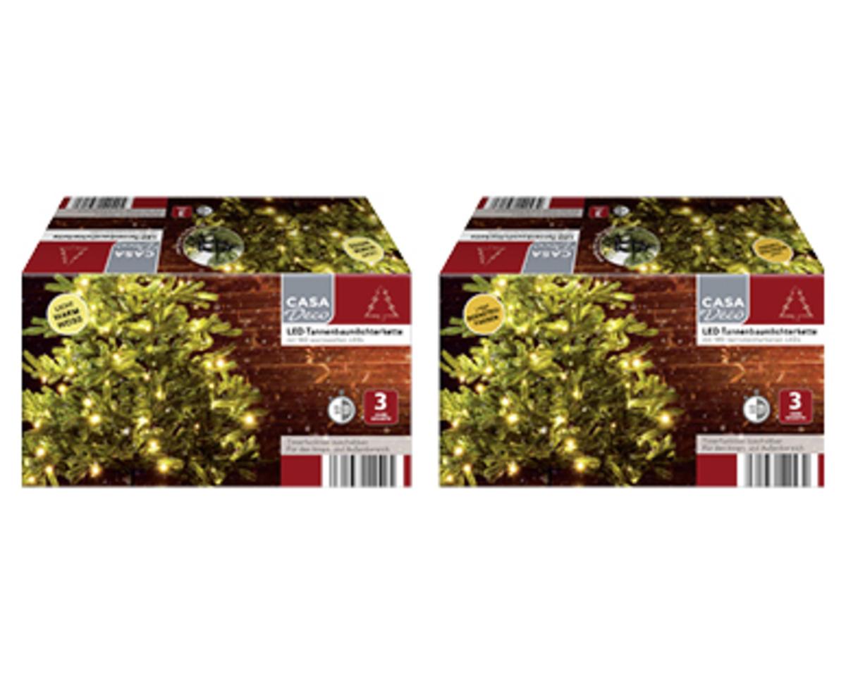 Bild 2 von CASA Deco LED-Tannenbaum- oder Mikro-LED-Tannenbaumlichterkette