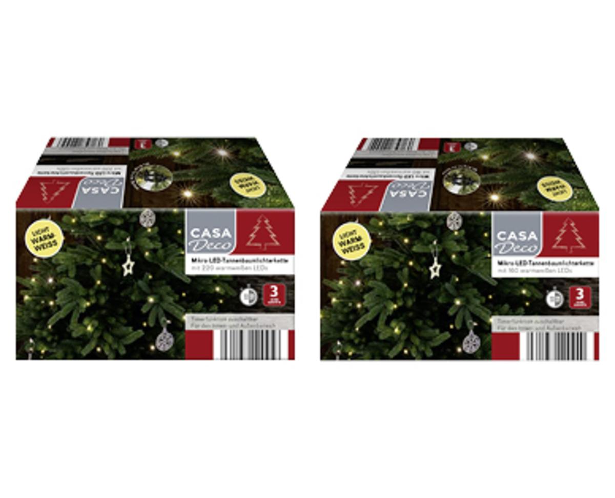 Bild 3 von CASA Deco LED-Tannenbaum- oder Mikro-LED-Tannenbaumlichterkette