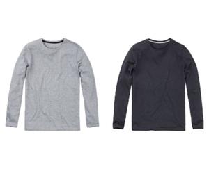 watson´s 2 Basic-Langarmshirts, Melange