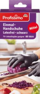 Profissimo Einmal-Handschuhe latexfrei schwarz Mittel