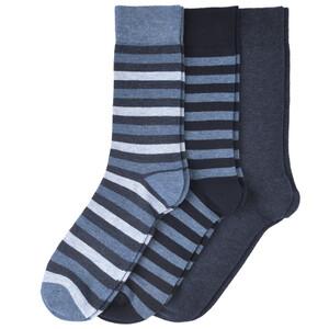 3 Paar Herren Socken in verschiedenen Dessins