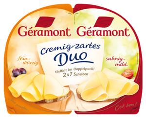Géramont Cremig-zarte Scheiben Französischer Weichkäse, Fett i. Tr.: 60 %
