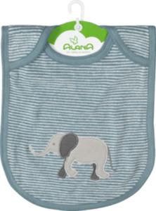 ALANA Baby Lätzchen, in Bio-Baumwolle, blau, weiß, Elefant, für Mädchen und Jungen
