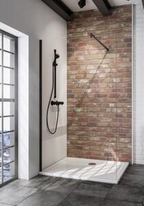 Schulte Duschwand Walk In Loft Black Style Alexa Style 2.0 1-teilig ,  120 x 200 cm , inkl. fixil-Beschichtung