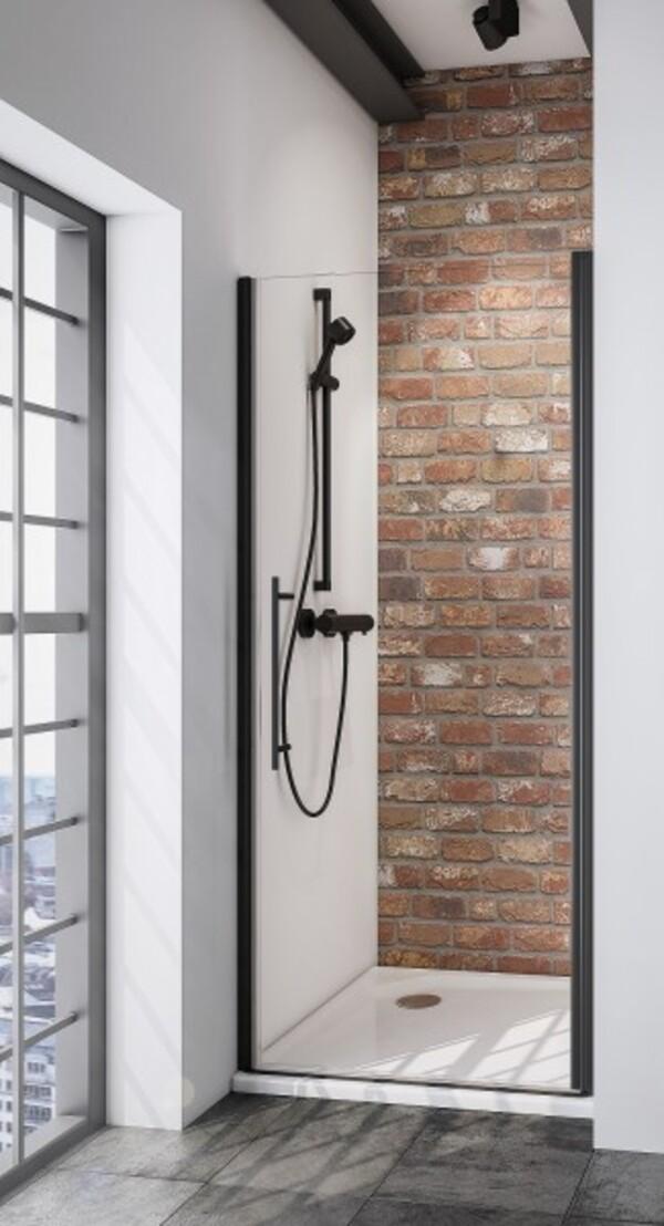 Schulte Drehtür Nische Black Style Alexa Style 2.0 ,  90 x 192 cm , inkl. fixil-Beschichtung