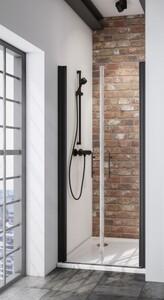 Schulte Pendeltür Nische Black Style Alexa Style 2.0 ,  80 x 192 cm , inkl. fixil-Beschichtung
