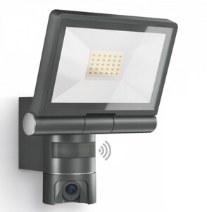 Steinel LED Außenstrahler XLED CAM 1 ,  Sensor, anthrazit, inkl. 8 GB SD-Karte