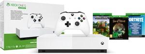 Xbox One S Konsole (1TB) All Digital Edition + Minecraft/Sea of Thieves/Fortnite schwarz