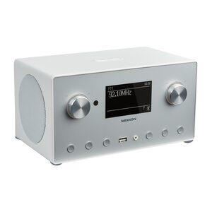 MEDION LIFE® P85166 Stereo Internet Radio, 8,9 cm (3,5'') Monochrom-Display, DAB-/UKW-Empfänger, Spotify®-Connect, WLAN, DLNA, USB 2.0-Anschluss, 2 x 7,5 W RMS